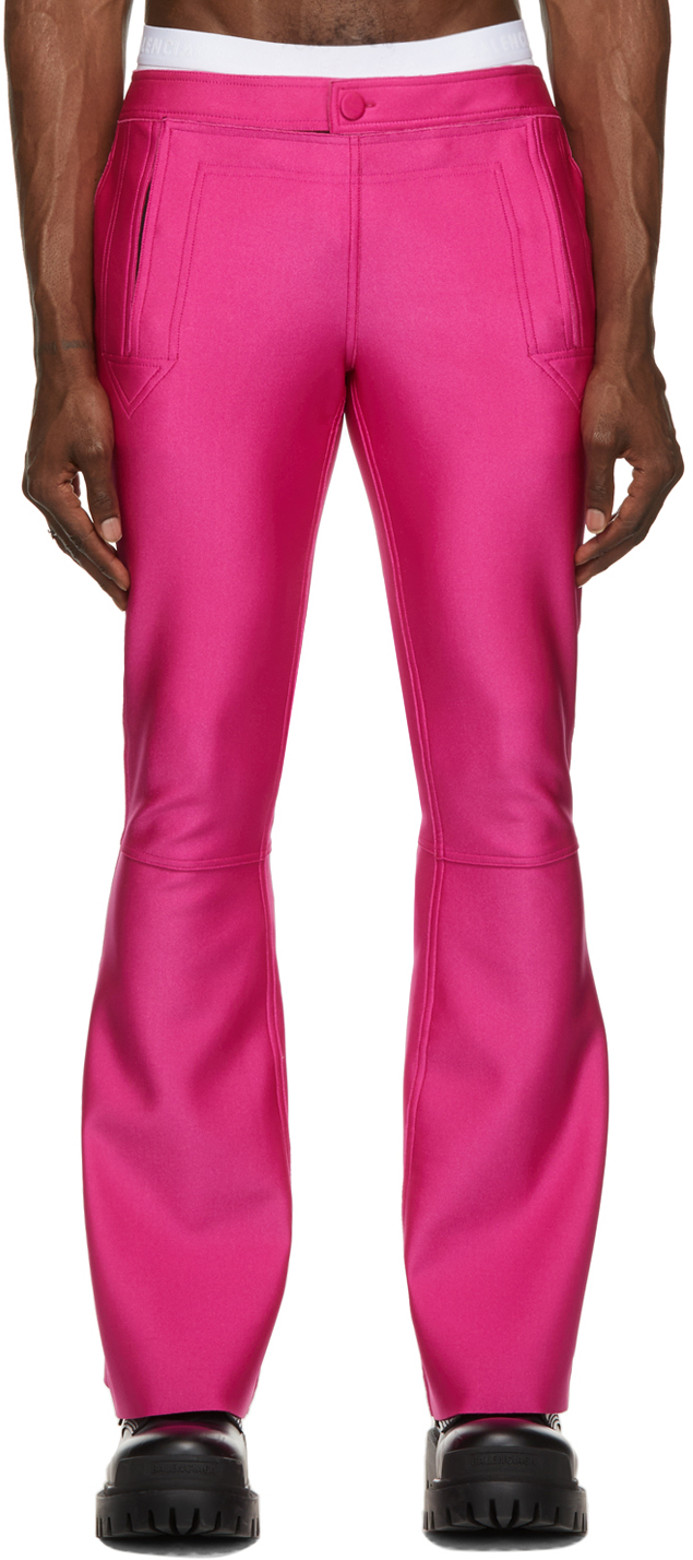 SSENSE Exclusive Pink Les Marins Bonded Jersey Trousers