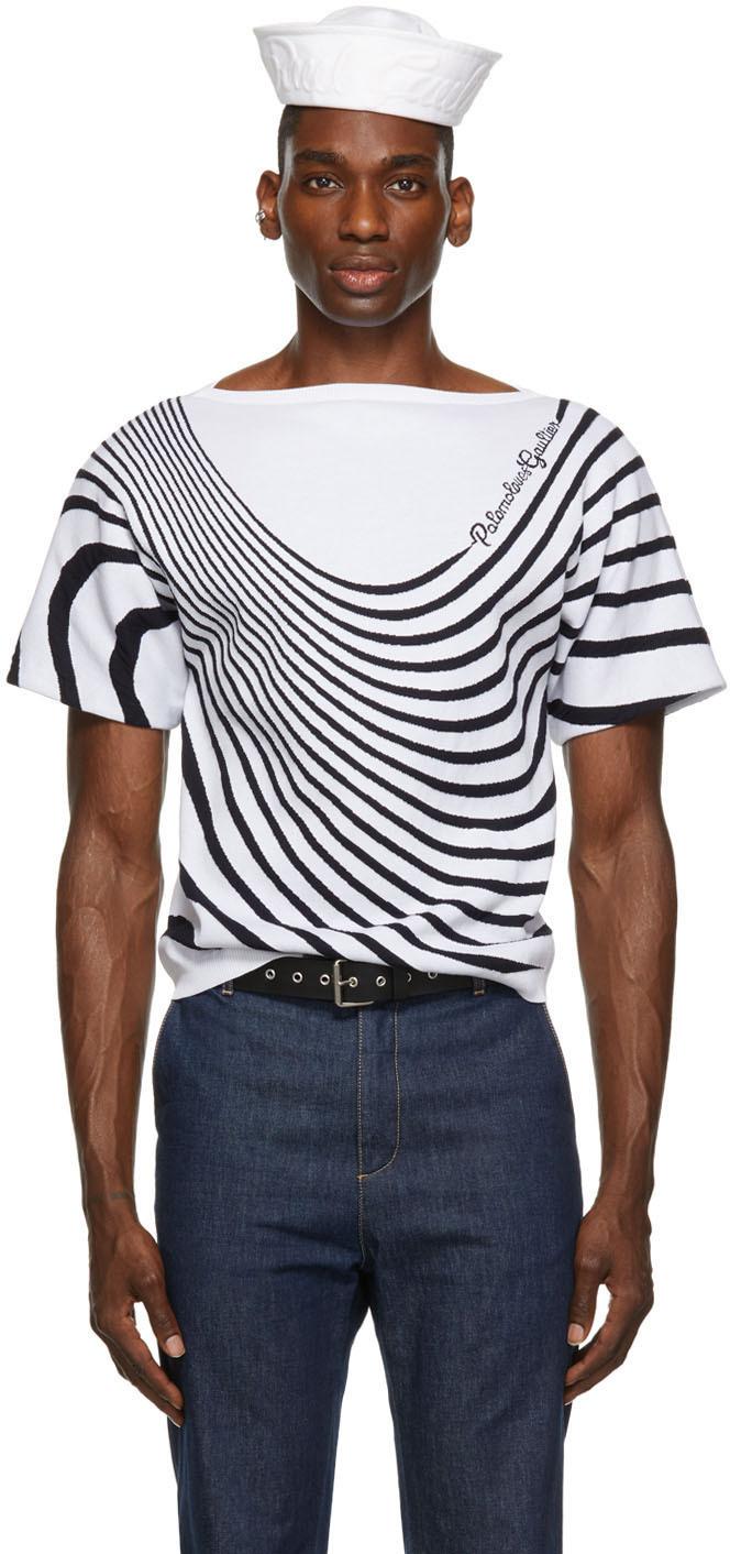 SSENSE Exclusive White Palomo Spain Edition 'Palomo Loves Gaultier' T-Shirt