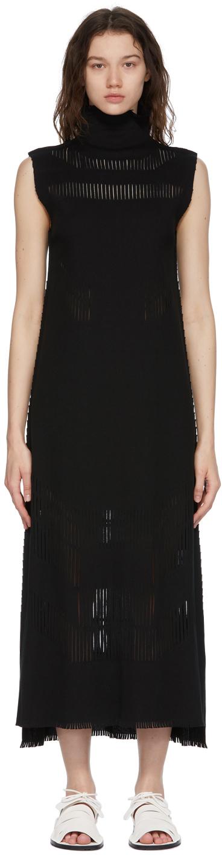 Black A-POC Slash Dress