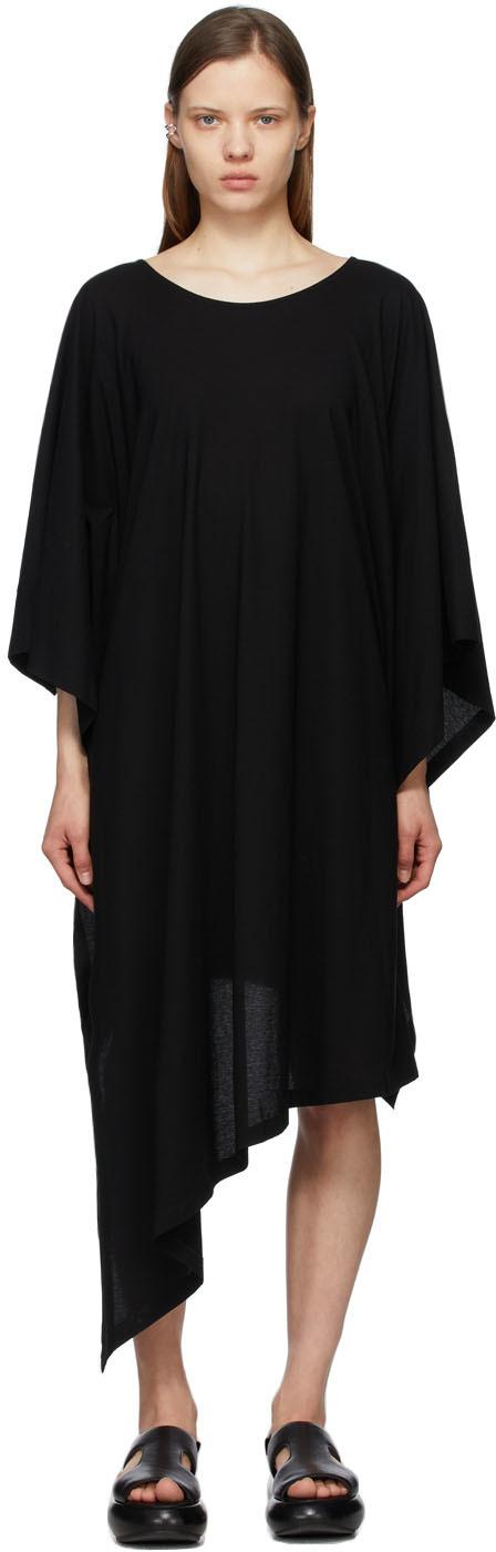 Black Layered Tunic Dress