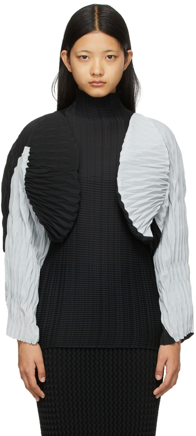 Black & Grey Chochin Bolero Jacket