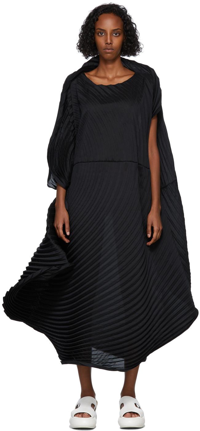 Black Monochrome Planet Dress