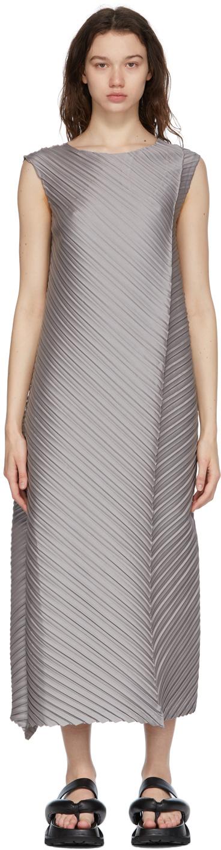 Grey CRT Pleats Dress