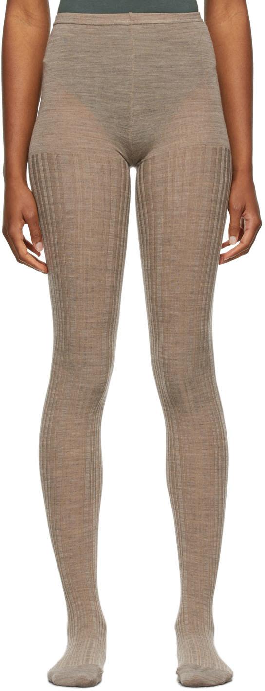 Wool Stripe Tights