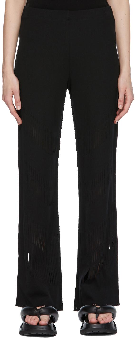 Black A-POC Slash Trousers