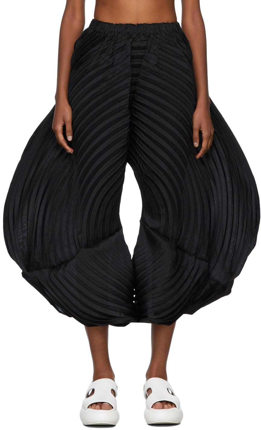 Black Monochrome Planet Trousers