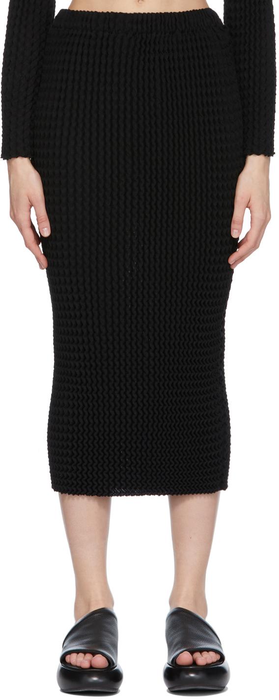 Black Spongy Skirt