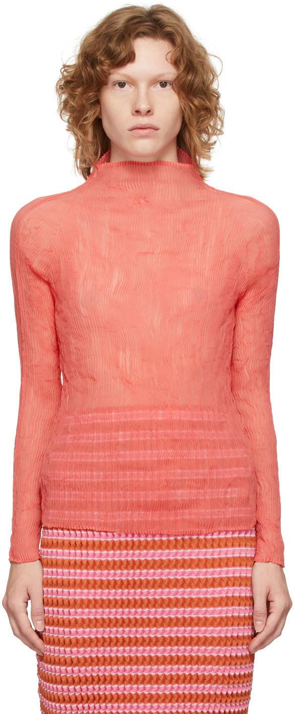 Pink Chiffon Twist Blouse