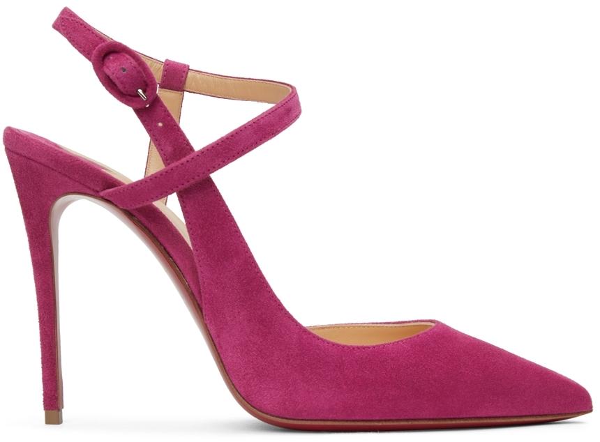 Pink Suede JenLove 100 Heels