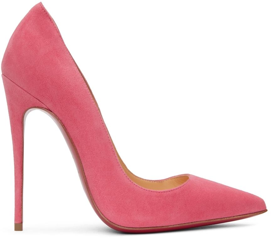 Pink Suede So Kate 120 Heels