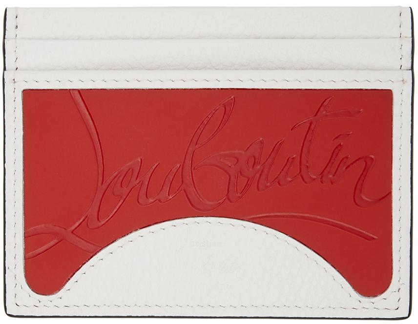 White & Red M Kios Cardholder