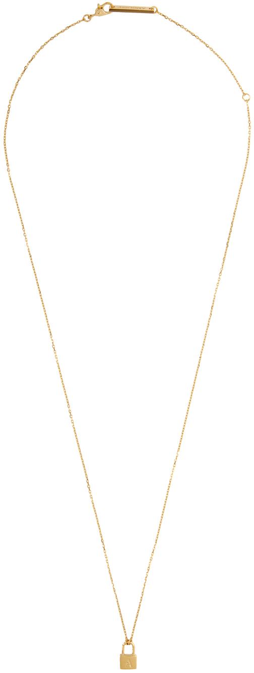 Gold Petit Series Padlock Necklace