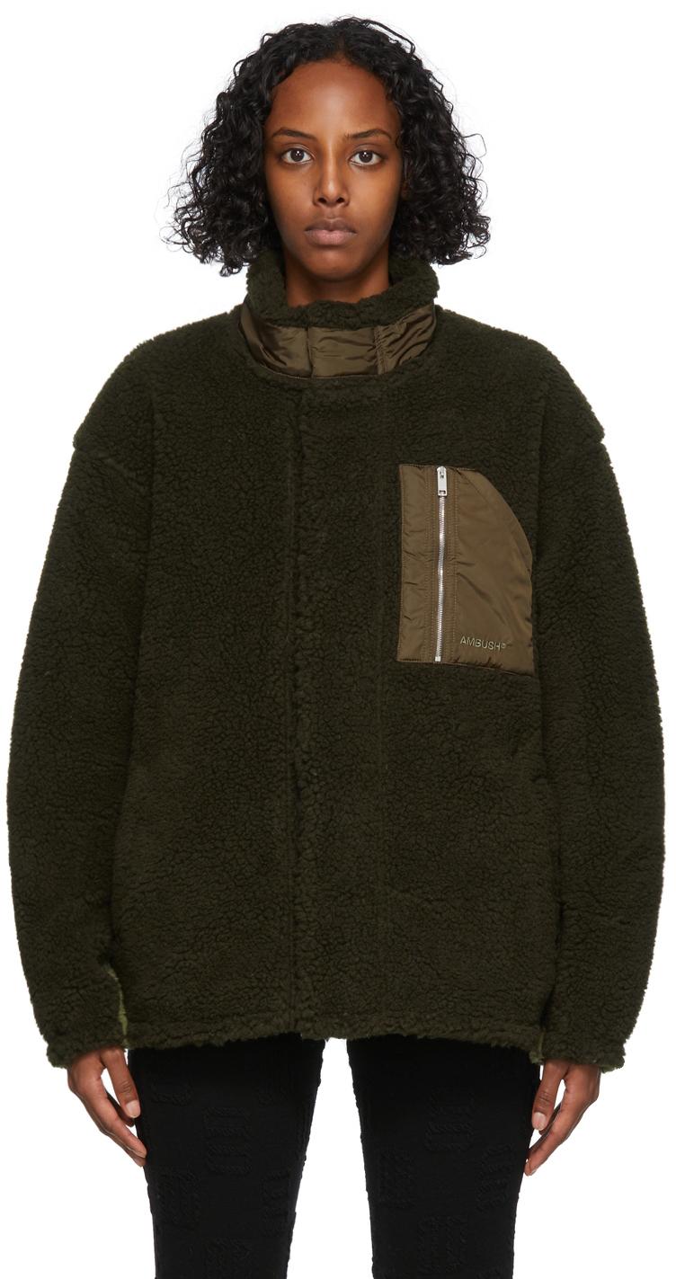 Green Fleece Zip Jacket