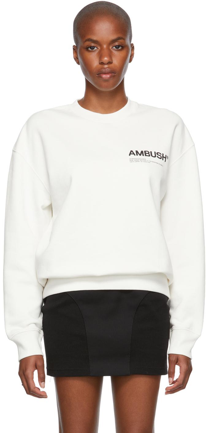 White 'Workshop' Sweatshirt