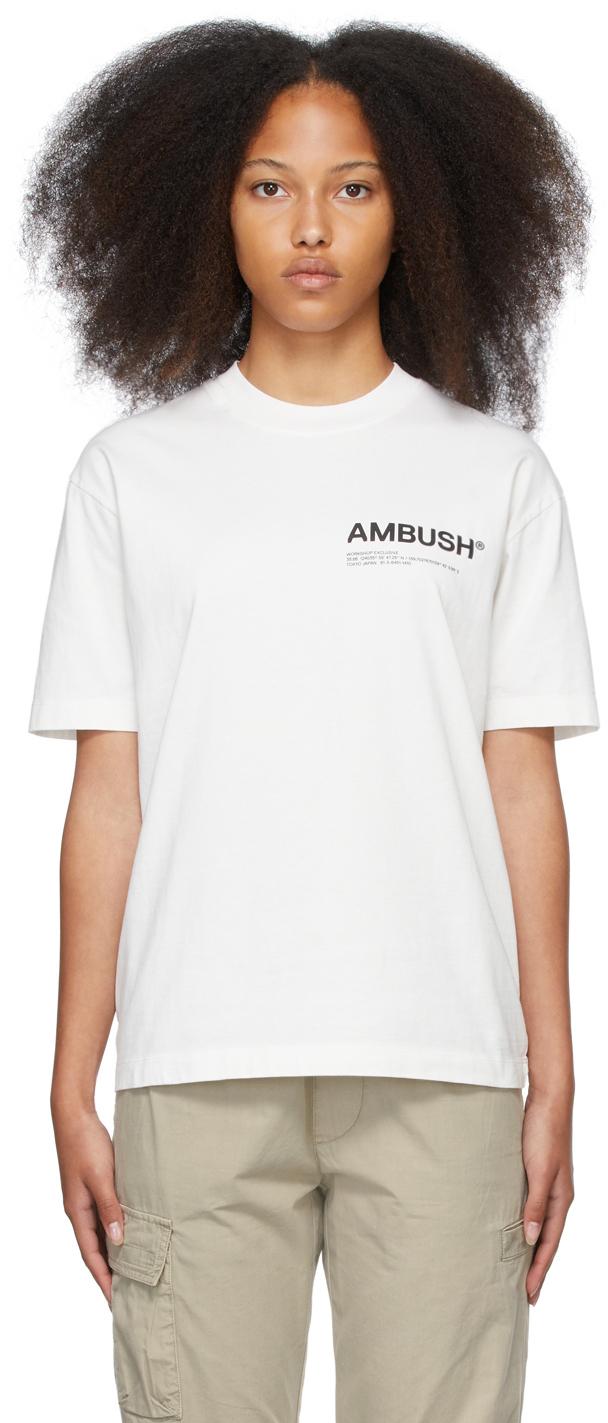 White Jersey 'Workshop' T-Shirt