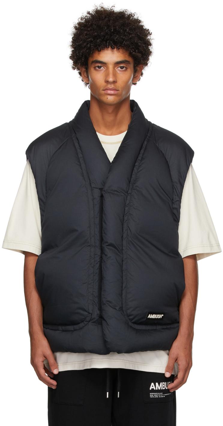 Black Down Cotton Vest