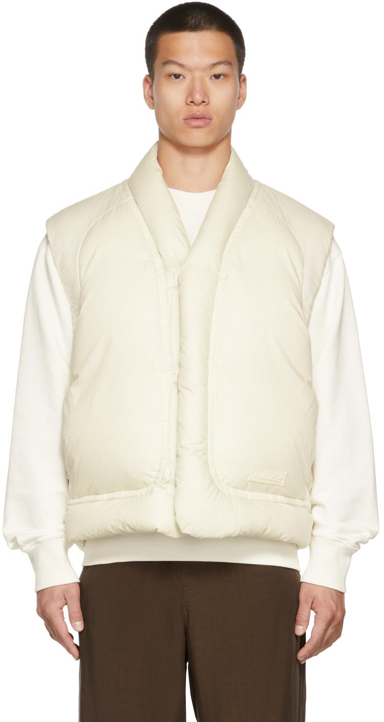 Off-White Down Kimono Vest