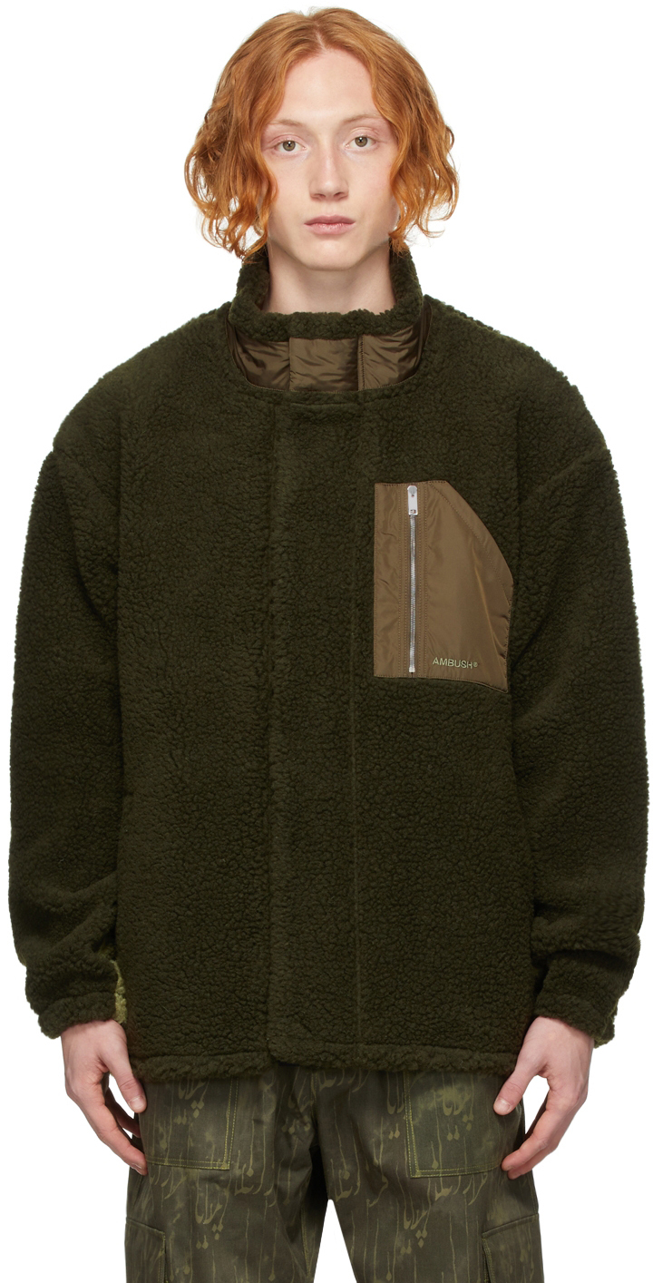 Green Wool Fleece Jacket