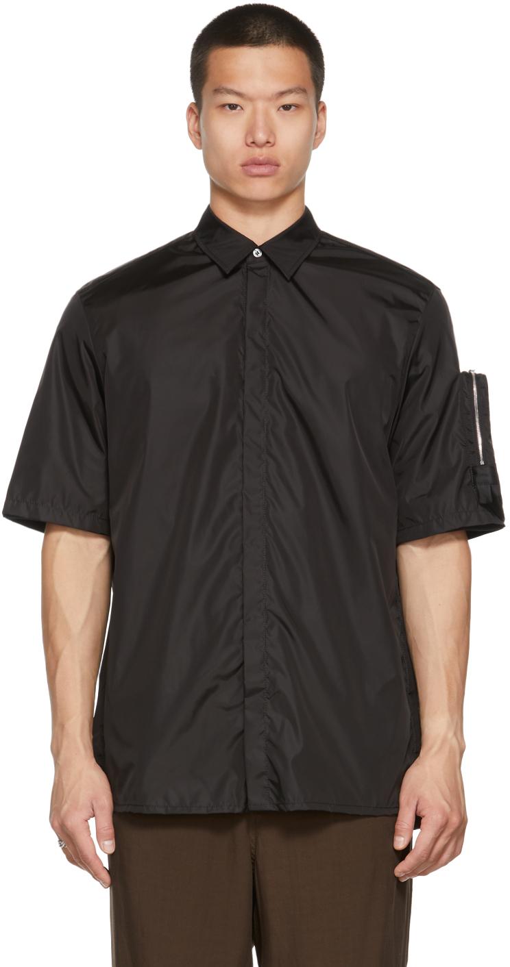 Black Sleeve Pocket Short Sleeve Shirt