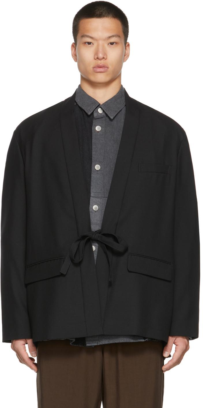 Black Kimono Blazer