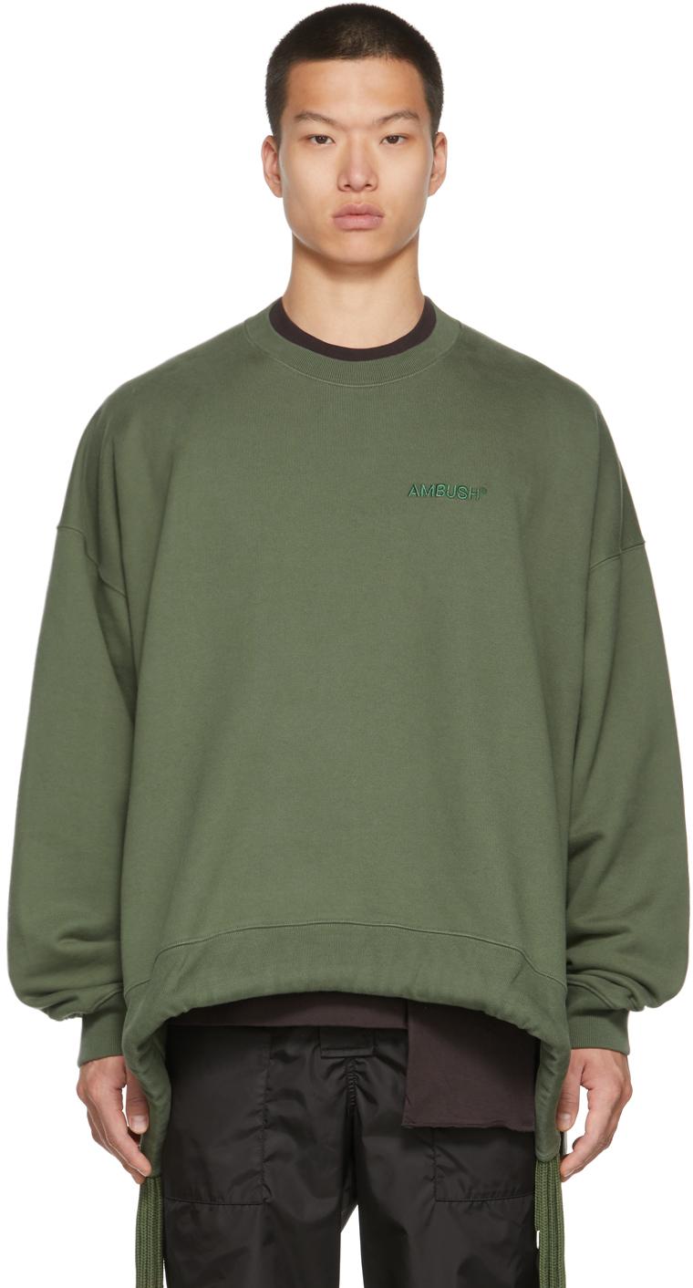 Green Multicord Crewneck Sweatshirt