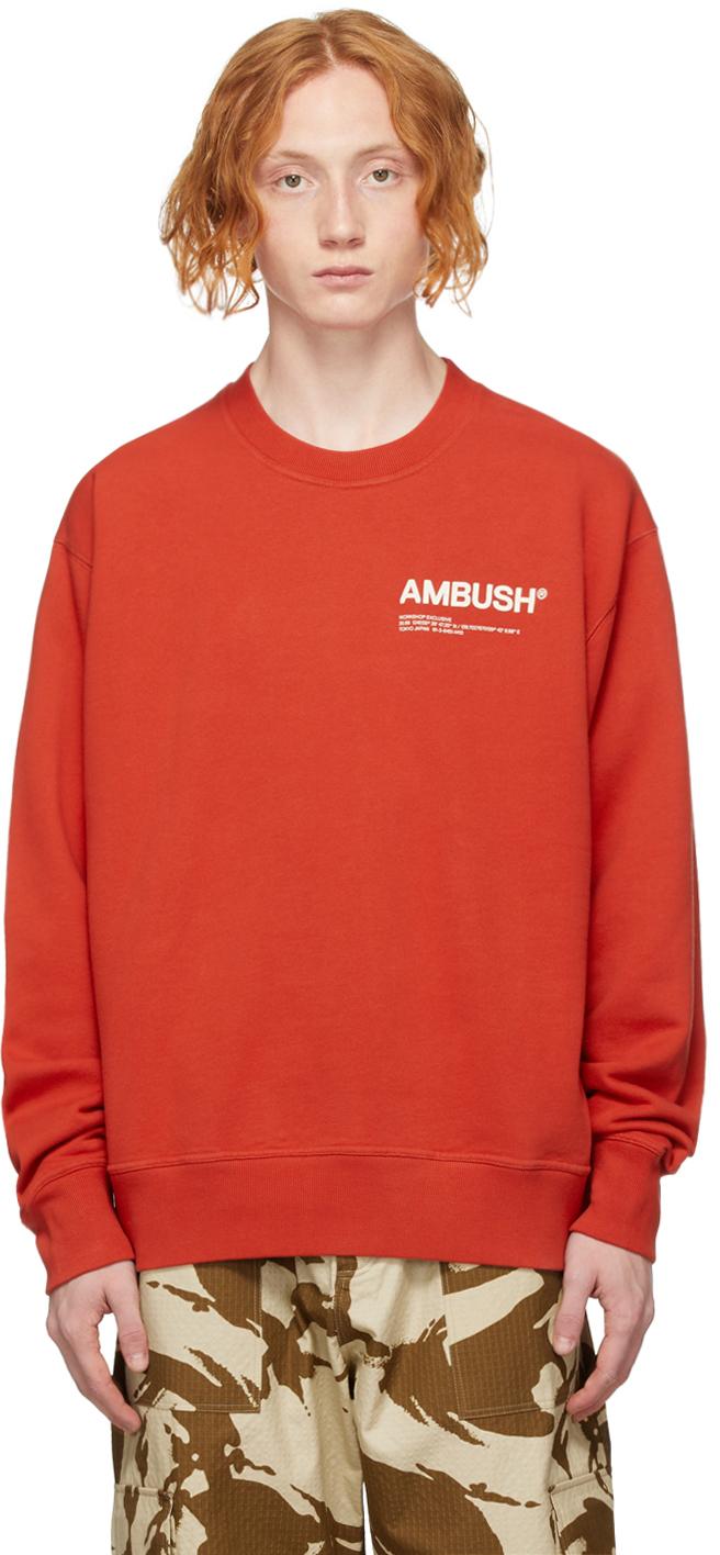Red 'Workshop' Sweatshirt