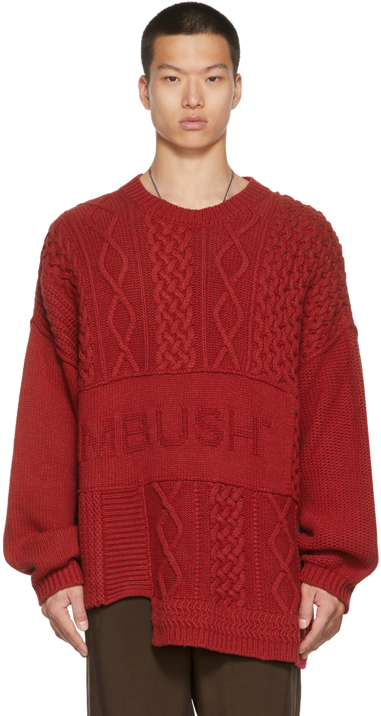 Red Patchwork Sweater