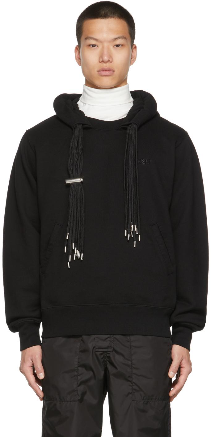 Black Multicord Hoodie