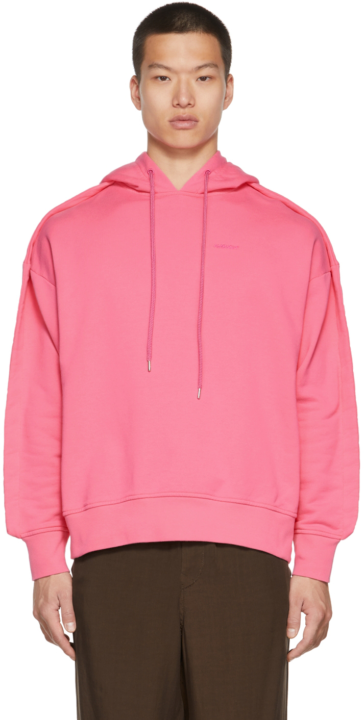 Pink Stitched Edge Hoodie