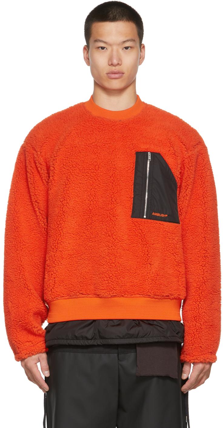 Orange Wool Fleece Sweatshirt