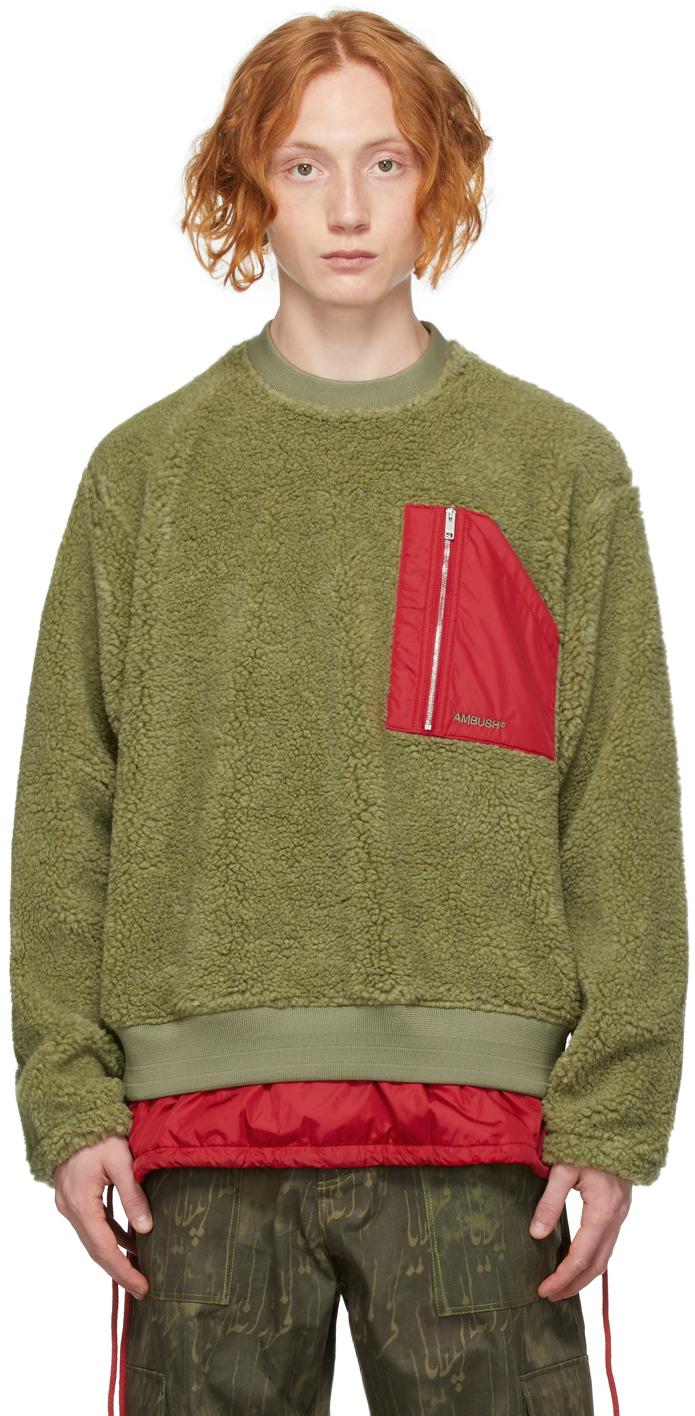 Khaki Wool Fleece Sweatshirt
