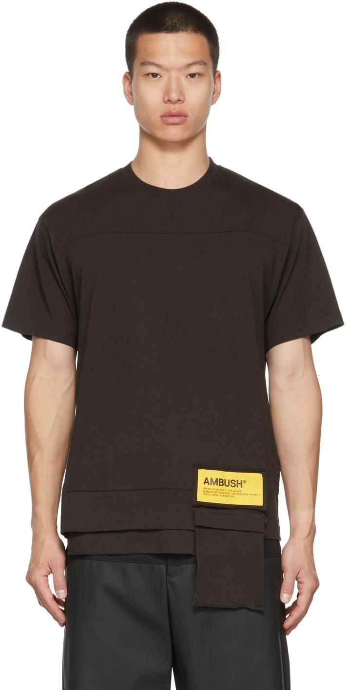 Brown Packable Waist Pocket T-Shirt