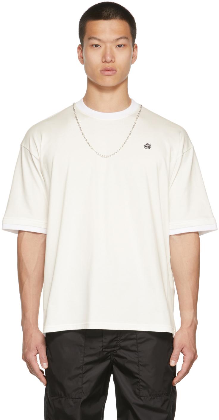 White Chain Collar T-Shirt
