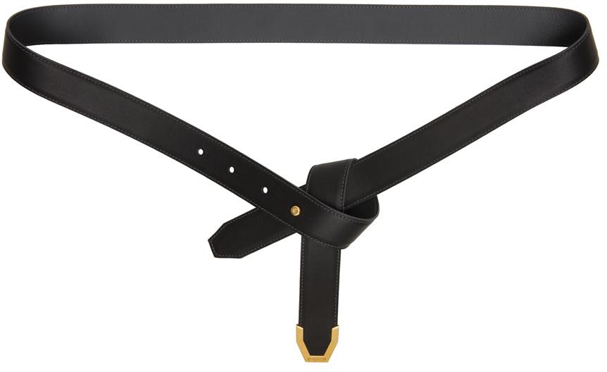 Black Calfskin Knot Belt