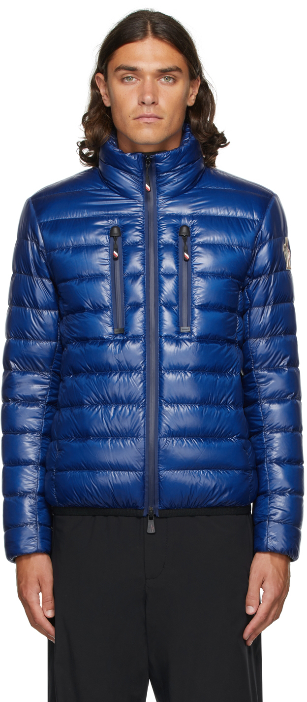 Blue Packable Down Quilted Jacket