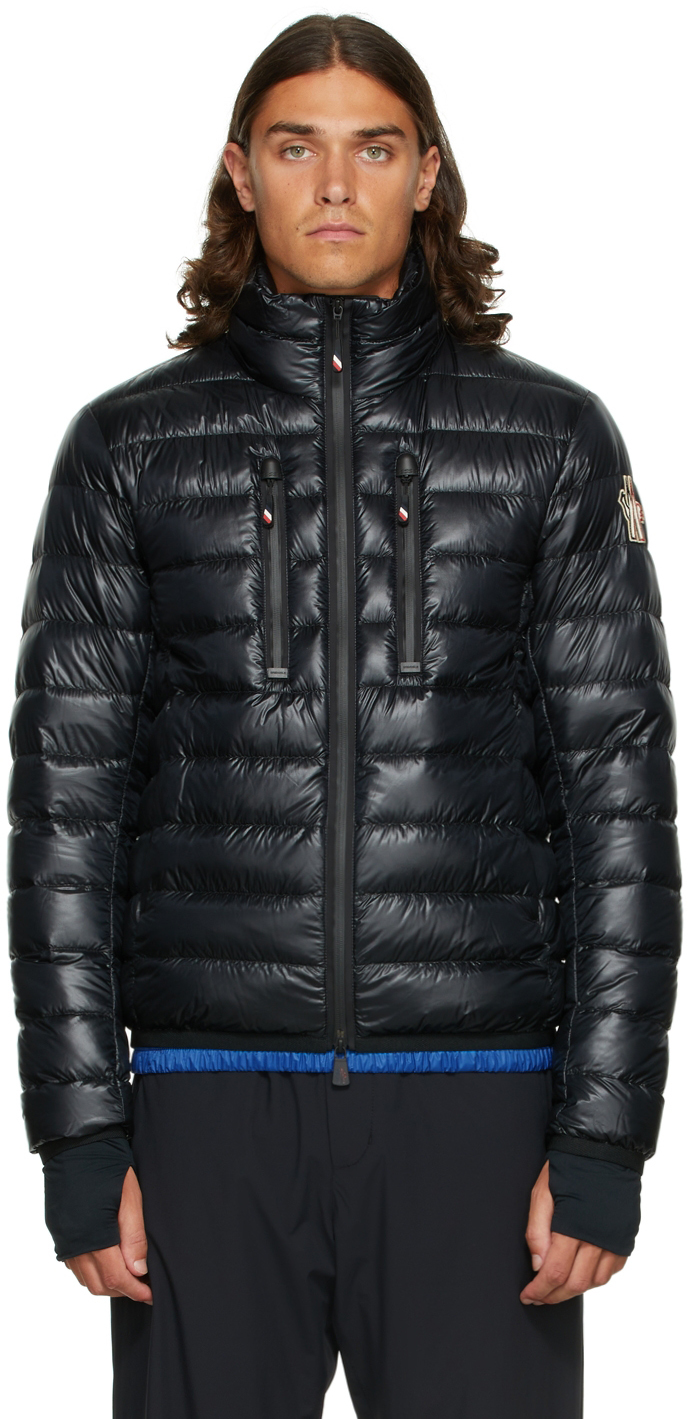 Black Packable Down Quilted Jacket