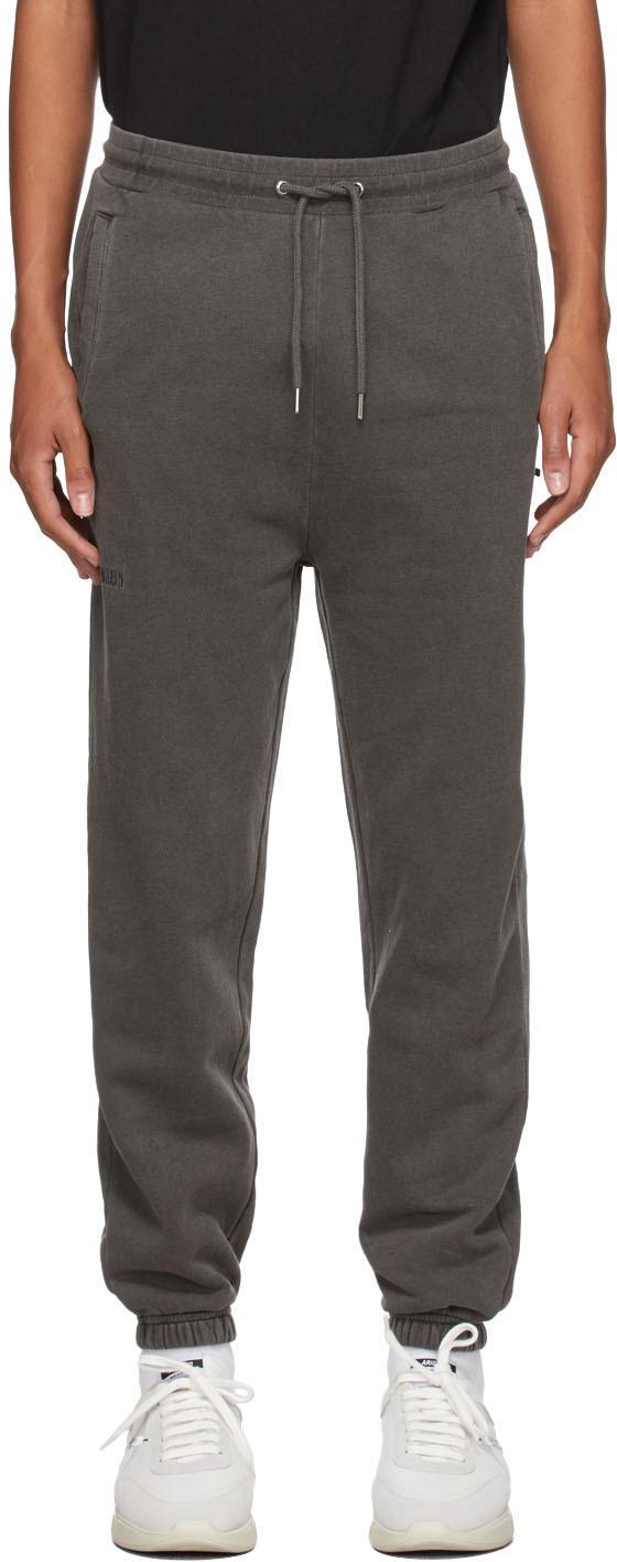 Grey Garment-Dyed Logo Lounge Pants