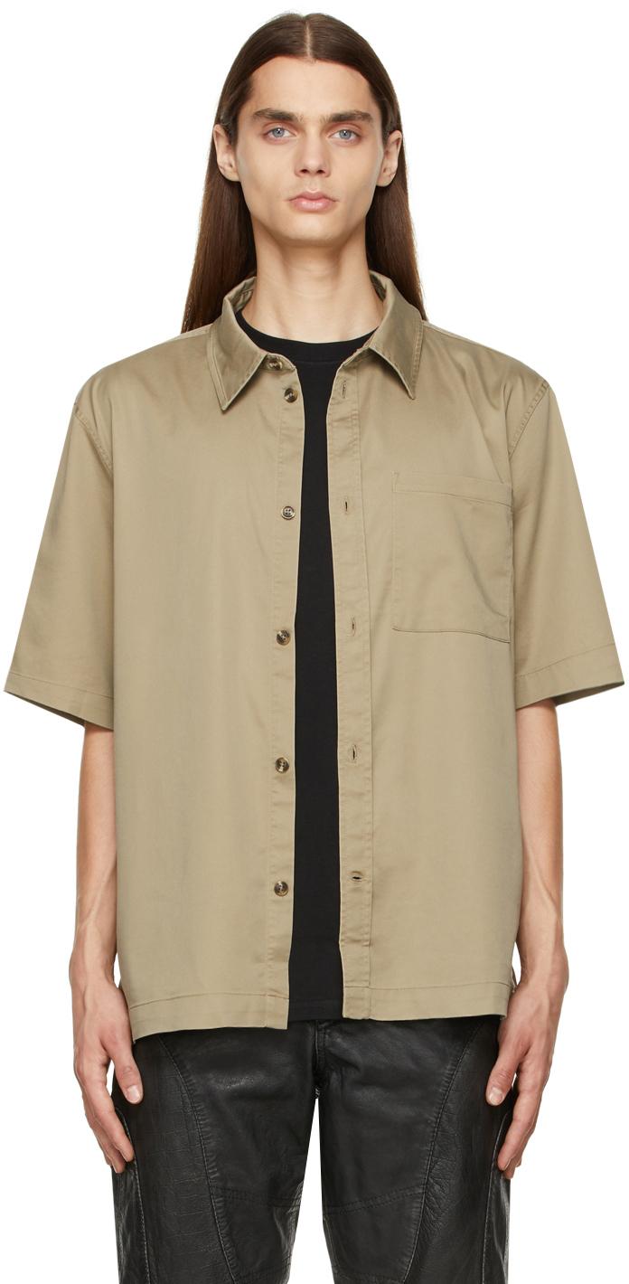 Khaki Boxy Short Sleeve Shirt