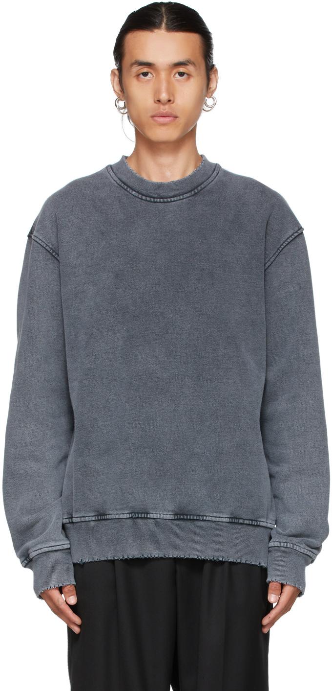 Grey Faded Distressed Sweatshirt