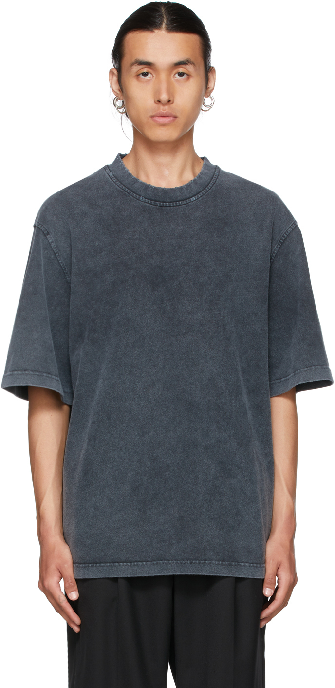 Grey Faded Distressed T-Shirt