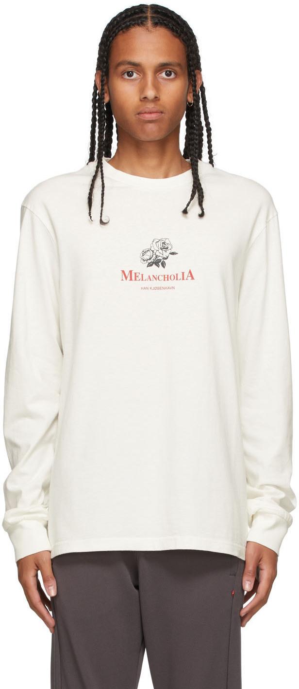 Han Kjobenhavn Off-White Artwork Long Sleeve T-Shirt