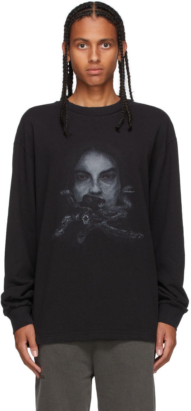 Black Boxy Long Sleeve T-Shirt