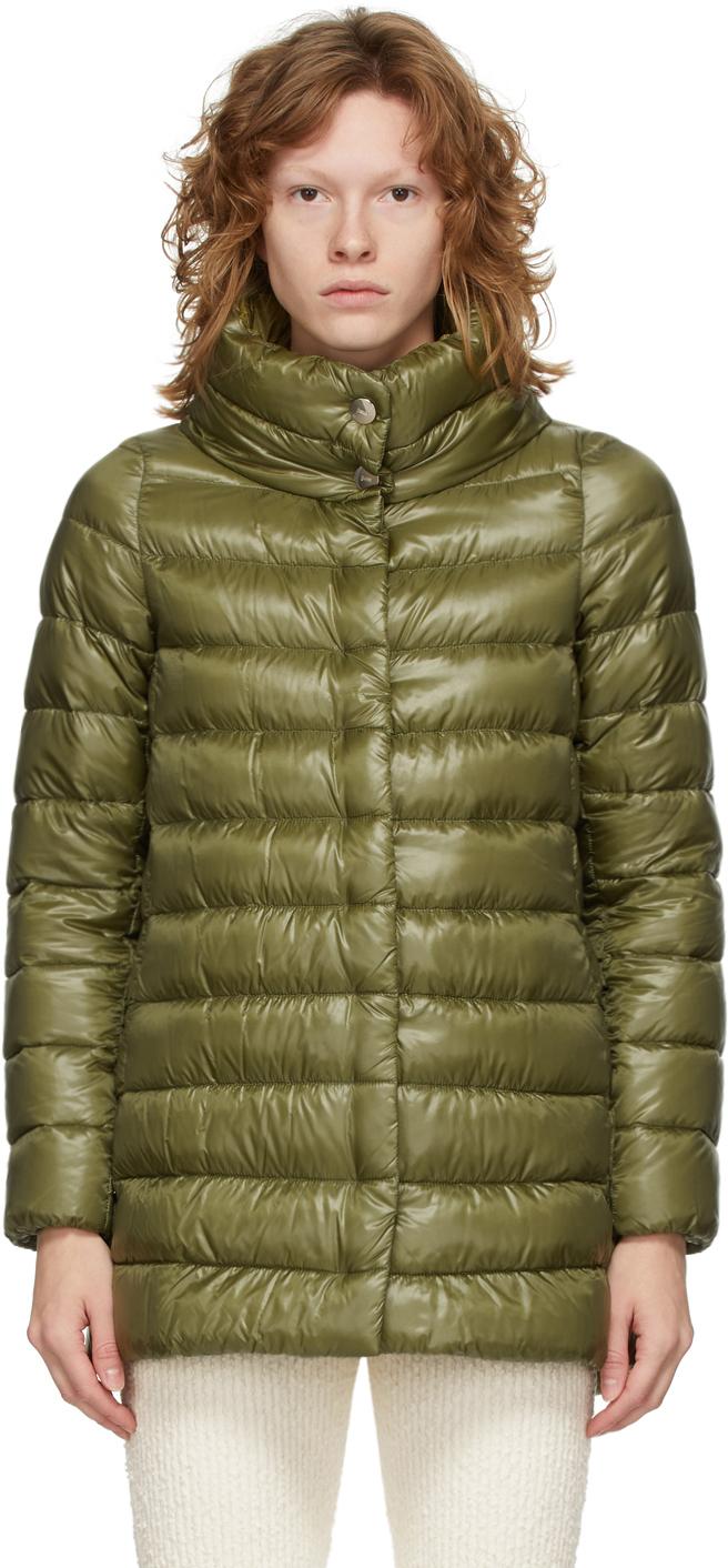 Green Down Amelia Coat