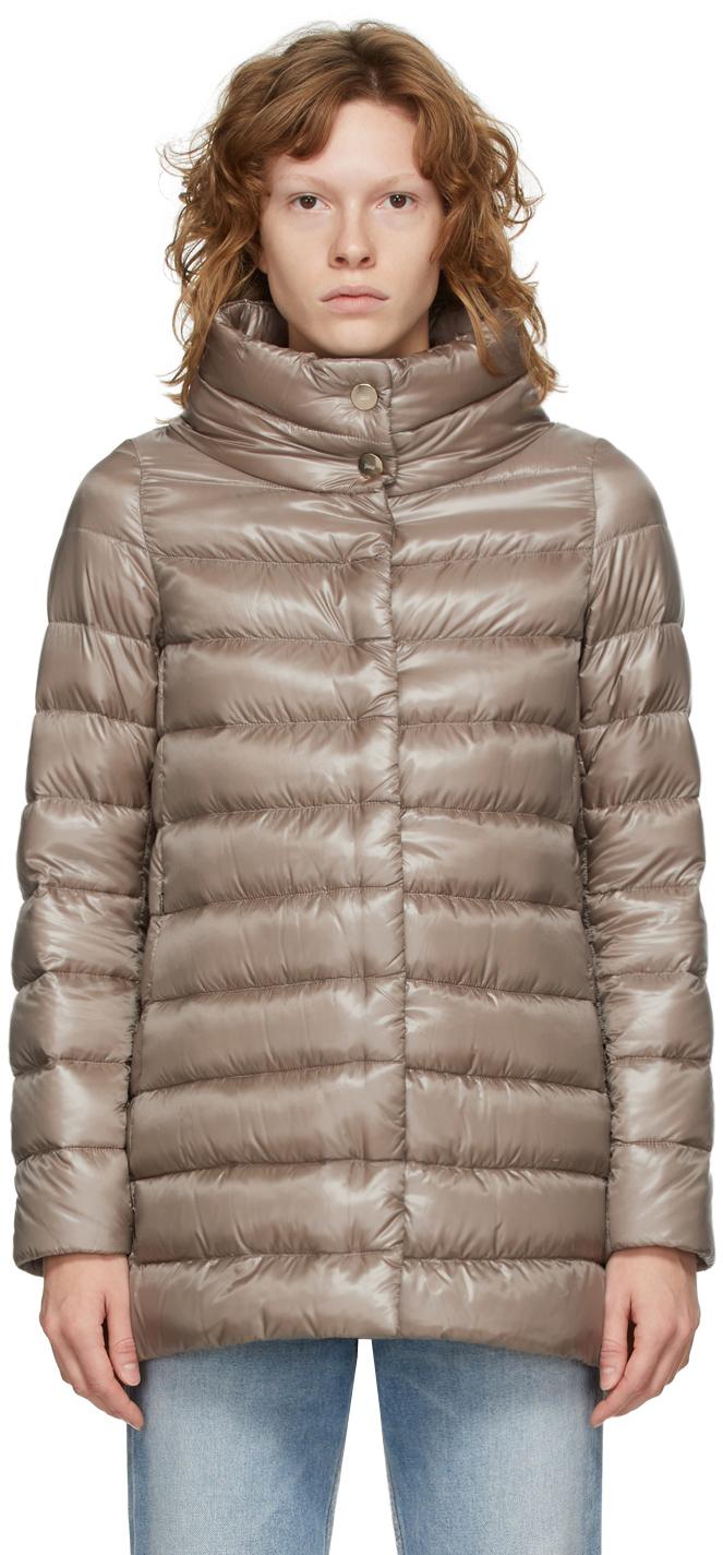 Taupe Down Amelia Coat