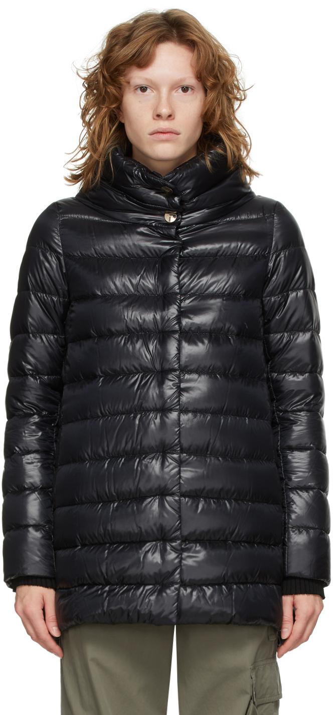Black Down Amelia Coat