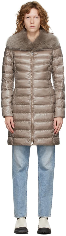 Taupe Down Elisa Coat