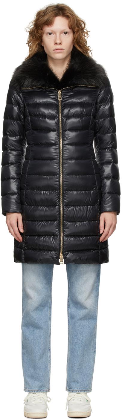 Black Down Elisa Coat