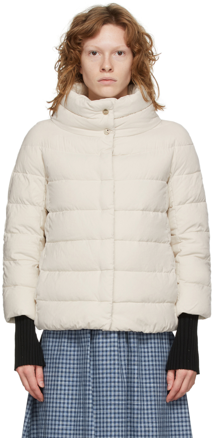 White Down Microfiber Jacket