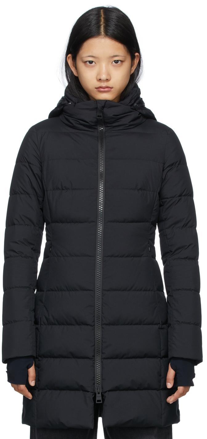 Black Down Gore-Tex Windstopper Long Jacket