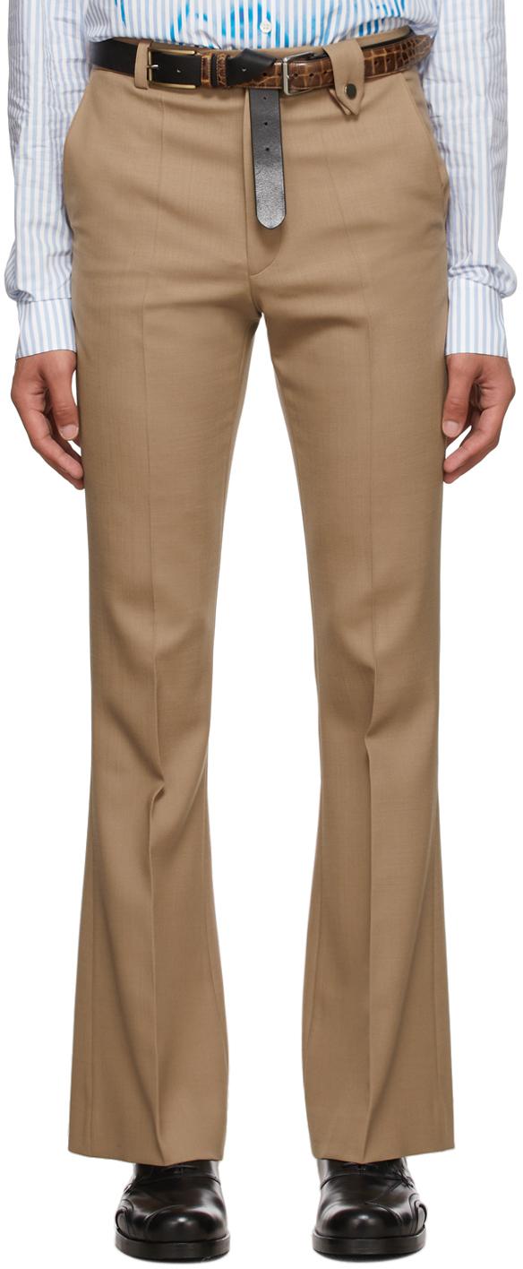 Tan Wool Sami Tailored Trousers